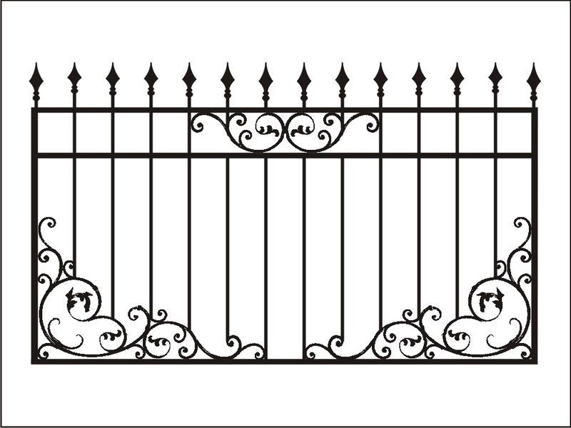 меня забор с вензелями рисунок картинка номера большом